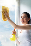 Washing windows Royalty Free Stock Photos