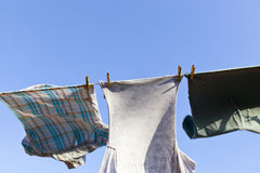 Washing On A Windy Day Stock Photo
