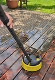 Washing wooden terrace Stock Images
