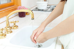 Washing your hands Stock Photography