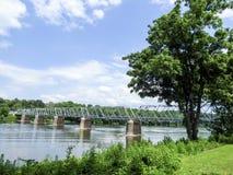 Washington& x27; мост скрещивания s от Пенсильвании к Трентону Нью-Джерси Стоковые Фото