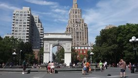 Washington Arch in New York City stock video footage
