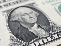 Washington auf einer 1-Dollar-Anmerkung, Vereinigte Staaten Stockbilder