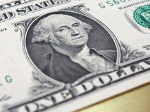 Washington auf einer 1-Dollar-Anmerkung, Vereinigte Staaten Stockfotos