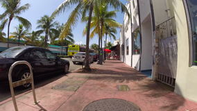 Washington Avenue Miami Beach almacen de video