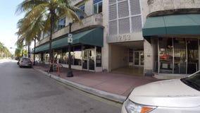 Washington Avenue Miami Beach stock footage