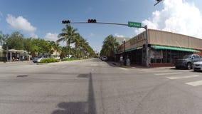 Washington Avenue Miami Beach stock video footage