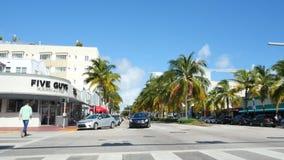 Washington Avenue Miami Beach stock video