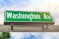 Washington Avenue road sign in Miami Stock Photography