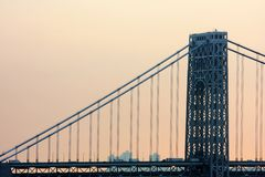 Washington bridge view Royalty Free Stock Photography