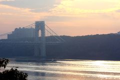 Washington bridge view Royalty Free Stock Image