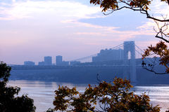 Washington bridge view Stock Photos