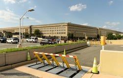 Washington, C.C. - 1º de junho de 2018: Barreiras de segurança na frente de encerrado imagens de stock royalty free