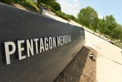 Washington, C.C. - 1º de junho de 2018: Dedicado memorável do Pentágono a t Imagens de Stock