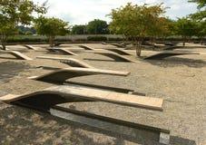 Washington, C.C. - 1º de junho de 2018: O memorial do Pentágono caracteriza 1 Fotografia de Stock Royalty Free