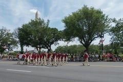 Washington, C.C, Etats-Unis - 25 mai 2015 : Reenactors mars dans le défilé national de Memorial Day dans le Washington DC photos stock