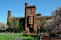 Washington, C.C.: Museu do castelo de Smithsonian Imagens de Stock