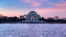 Washington, C.C.: Nascer do sol em Jefferson Memorial Fotografia de Stock