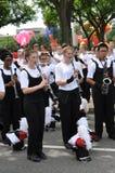 Washington, C C - 4 DE JULHO DE 2017: músico-participantes 2017 nacional Dia da Independência parada do 4 de julho de 2017 em Was Imagem de Stock Royalty Free