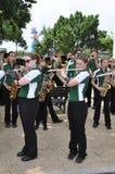 Washington, C C - 4 DE JULHO DE 2017: músico-participantes 2017 nacional Dia da Independência parada do 4 de julho de 2017 em Was Imagens de Stock Royalty Free