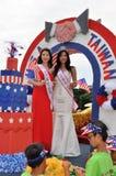 Washington, C C - 4 DE JULHO DE 2017: representantes dos Taiwan-participantes nacional Dia da Independência parada do 4 de julho  Foto de Stock Royalty Free