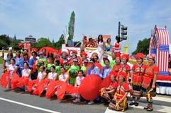 Washington, C C - 4 DE JULHO DE 2017: representantes dos Taiwan-participantes nacional Dia da Independência parada do 4 de julho  Fotografia de Stock Royalty Free