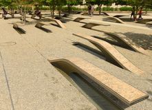 Washington, C.C - 1er juin 2018 : Le mémorial du Pentagone comporte 1 photographie stock