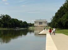 Washington, C.C - 1er juin 2018 : Les gens près de Lincoln Memorial Photos libres de droits