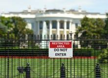 Washington, C.C - 1er juin 2018 : Signe avec le ` RESTR d'inscription Photographie stock libre de droits