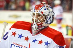 Washington Capitals goalie Michal Neuvirth Royalty Free Stock Image
