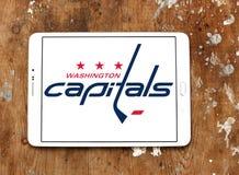 Washington Capitals ice hockey team logo. Logo of Washington Capitals ice hockey team on samsung tablet. The Washington Capitals are a professional ice hockey Stock Images