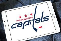 Washington Capitals ice hockey team logo. Logo of Washington Capitals ice hockey team on samsung tablet. The Washington Capitals are a professional ice hockey Royalty Free Stock Photos