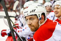 Washington Capitals right wing Eric Fehr Stock Photography