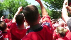 Washington Capitals-Siegparade fängt an stock footage