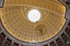 Washington capitol dome internal view Royalty Free Stock Photo