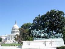 Washington Capitol-een deel van Grant Memorial 2004 Royalty-vrije Stock Foto's