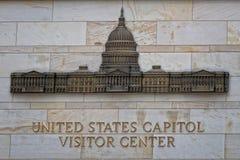 Washington capitol visitor center sign Royalty Free Stock Photography