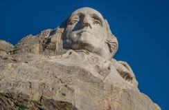 Washington carving at Mount Rushmore. Carving of George Washington at Mount Rushmore near Rapid City, South Dakota Royalty Free Stock Photos