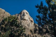 Washington carving at Mount Rushmore. Carving of George Washington at Mount Rushmore near Rapid City, South Dakota Royalty Free Stock Images