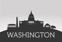 Washington City avec la Maison Blanche  Images stock