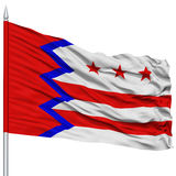 Washington City Flag sur le mât de drapeau, Etats-Unis Photo libre de droits