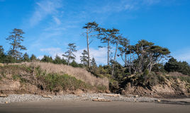 Washington Coast Afternoon. Pacific Ocean At the Washington Coast Royalty Free Stock Images
