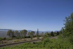 Washington Coastline Railroad Tracks Stock Foto