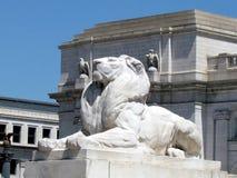 Washington Columbus Memorial lion 2013 Stock Photo