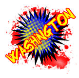 Washington Comic Exclamation ilustración del vector