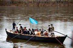 Washington Crosses el Delaware Imagen de archivo libre de regalías