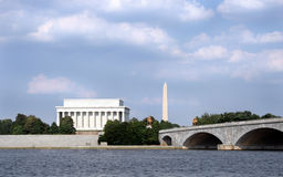 Washington D.C. A classic Washington D.C. (United States capitol) scene, taken from a boat on the Potomac Stock Images
