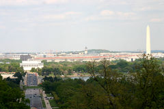 Washington, D.C. View of the city of the District of Columbia from Arlington National Cemetery Stock Photo