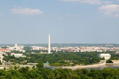Washington D.C. aerial view Stock Image