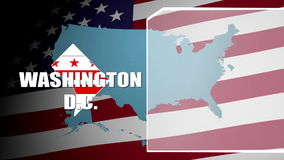Washington D.C. Countered Flag and Information Panel stock video footage